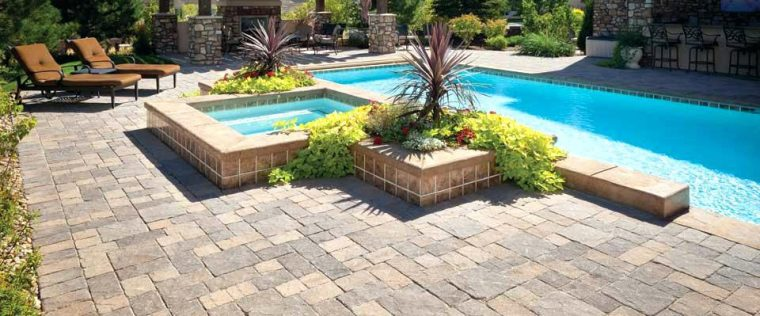 landscaping and interlocking brick